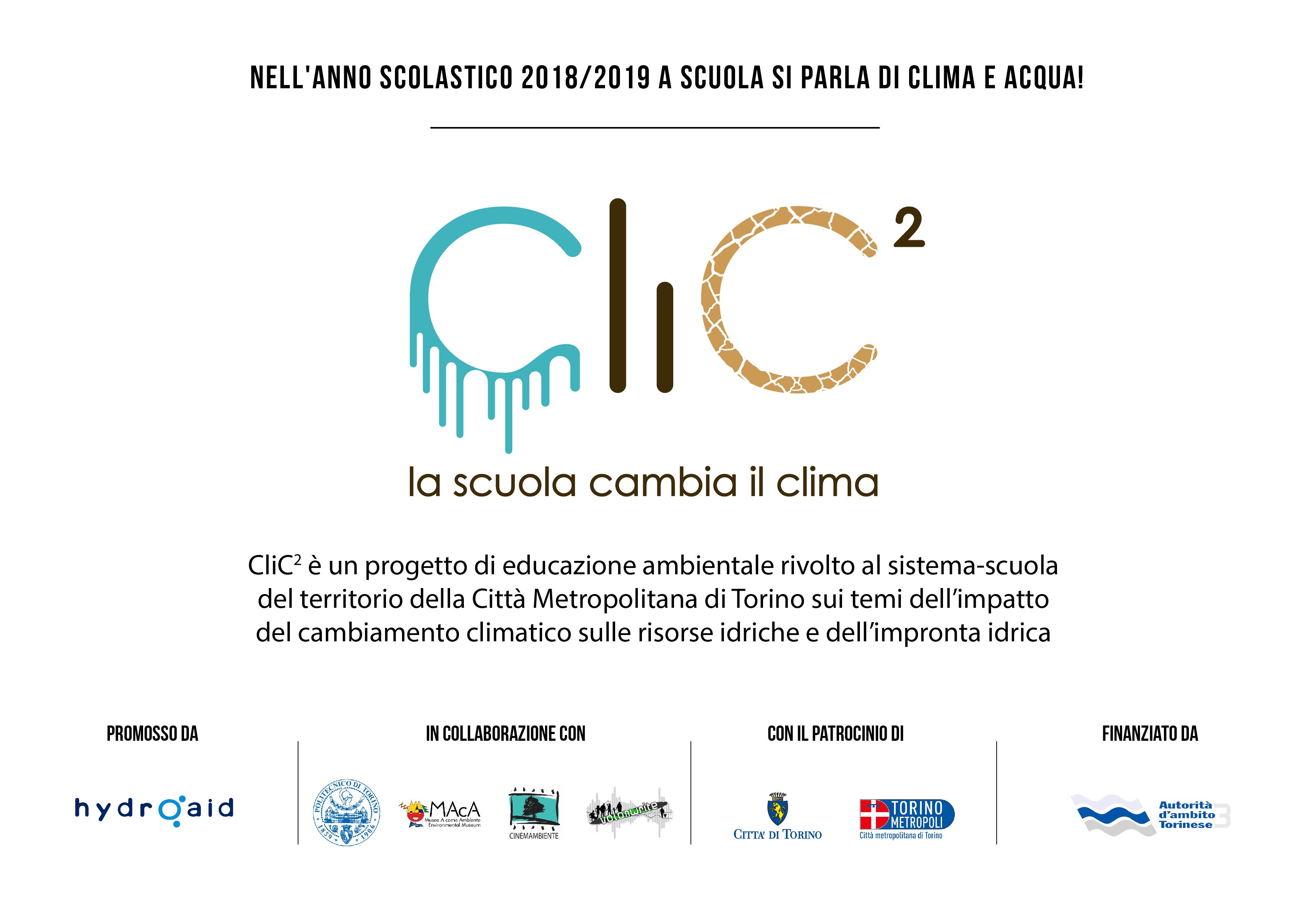 """CLIC2 guiderà gli studenti in un percorso educativo che, con il supporto di giochi di ruolo, incontri tematici, laboratori didattici, proiezioni di filmati e realizzazioni di brevi video, consentirà loro di """"immergersi"""" nelle sfide poste dal cambiamento climatico stimolando la loro immaginazione, la loro inventiva, il loro ingegno e la loro creatività."""